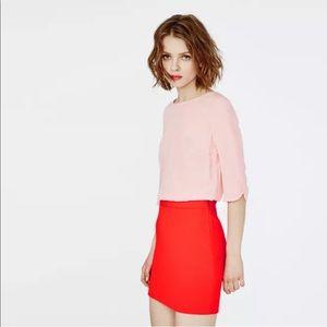 Maje Reggio Two Tone Dress Silk Top Pink Red